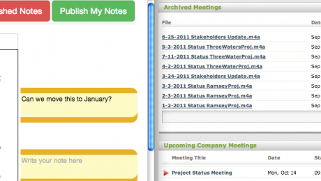 Meetings and Agenda Dashboard